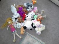 Soft toys - assorted including beanie babies