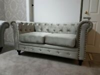 Brand New England Chesterfield Velvet Fabric 3 2 Seater Sofas Suites Settee Armchair