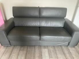 Grey Leather sofa's