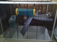 Lovely rat cage (suitable for 2 rats) with bits and bobs for your adorable pet