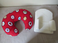 Nursing Pillow (PHP Widgey) + Elevated Sleep Positioner (Clevamama ClevaSleep)