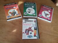 Set of 3 The Times Keystage 3 Science Revision PC CD ROMs and Eyewitness Encyclopedia of Science 2.0