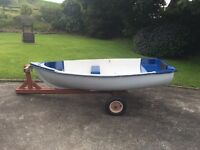 Fibreglass rowing/tender/fishing Dinghy