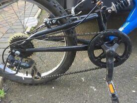 Boys full suspension bike