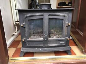 Old cast iron fire
