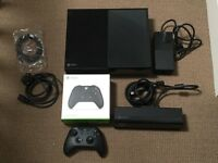XBOX ONE with TWO CONTROLLERS and XBOX KINECT
