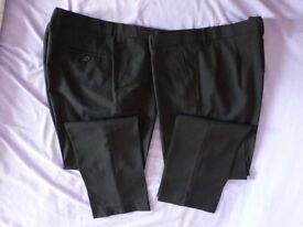 "2 Pairs of Brand New Black Mens Work Trousers. Mens Size 36"" waist, 31"" leg length."
