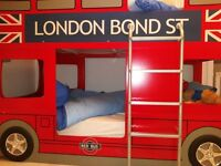 Childrens London Bus Bunk Beds mint condition