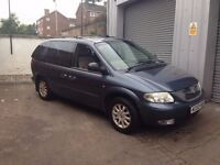 2002 Chrysler VOYAGER LX AUTO ,FULL LEATHER, AUTO, LONG MOT, sold as spares