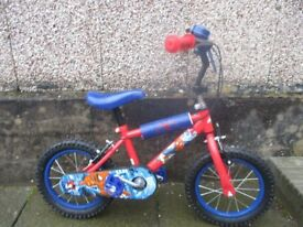 Spiderman boys bike