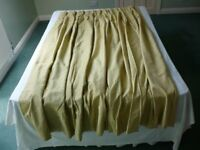 Curtains for French Doors 2 prs heavy pale gold brocade Used but good clean condition.