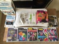 Wii fit board, controller and games with accessories