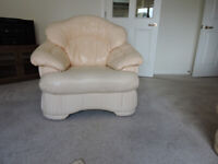 Two Matching Leather Single Seater Armchairs