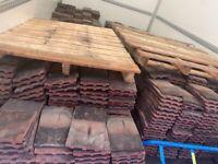1000 Reclaimed dark and Terrocotta roof tiles