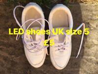LED light up shoes (UK size 5)
