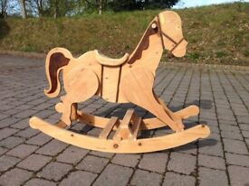 Wooden rocking horse - handmade - perfect up-cycle project