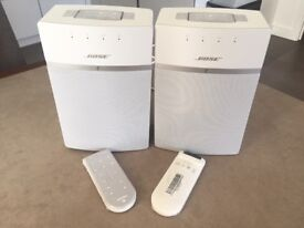 Pair of Bose SoundTouch 10 Speaker Wireless Wi-Fi, White