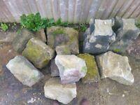 Rockery stone (weathered / York stone / garden)