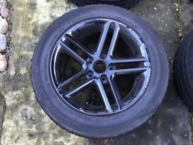 "17"" black Momo alloy wheels with Falken Eurowinter Tyres"