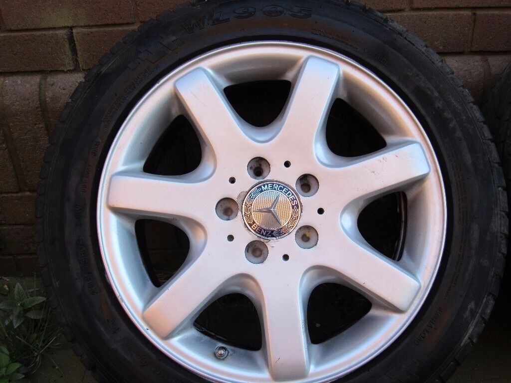 Genuine mercedes benz slk 16 alloy wheels tyres in for Mercedes benz mag wheels