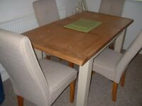 DINING TABLE AND CHAIRS GOOD QUALITY LITTLE USED AS NEW