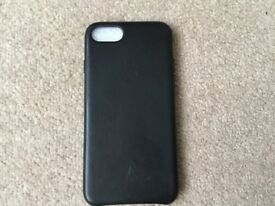 Black Leather Case iPhone7