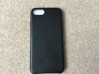 Black Leather Case iPhone7