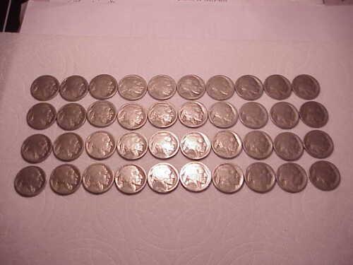 Forty 40 1916 S Restored Acid Treated Buffalo Indian Head Nickels