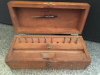 Antique / Vintage Jewelers Watch Makers tool box