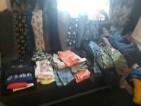 A big bundle of girls clothes
