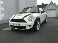 Mini Cooper S Convertible - Pepper White with Black Stripes. One owner from new. Good condition