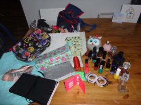 GIRLS BUNDLE of BAGS , HAIRBANDS & PURSE & perfume. Mainly NEW!