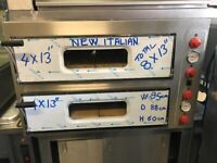 "NEW COMMERCIAL CATERING 2 DECK QUALITY PIZZA OVEN 8 X 13"" SIZE"