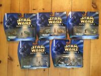 Official Star Wars Episode 1 Micro Machines – 5 Sets - Brand New In Box