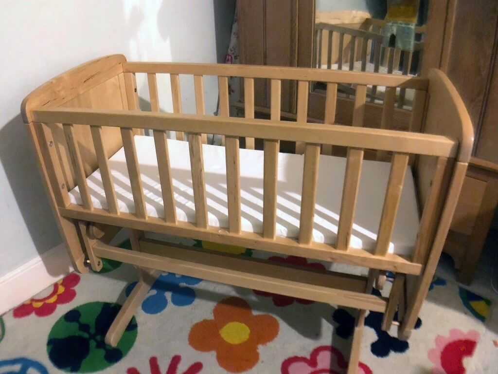 Rocking sliding swing cradle cot crib - Solid Wood - Mothercare