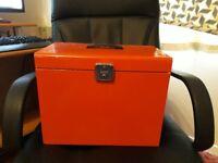 A4 metal file box storage (RED)