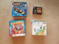 3 Board games & Magic trick set