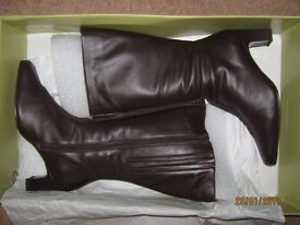 Duo Brown Leather Boots