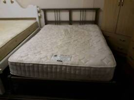 Kingsize IKEA bed with mattress. Delivery possible