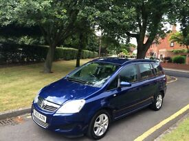 Vauxhall Zafira Exclusive1.6 Full History Air Con Long Mot Alloys 7 Seater P/X Welcome