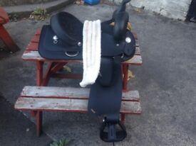 Wintec Black Western Saddle