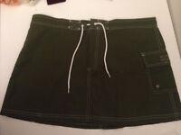 J Crew beachwear skirt - dark green - size UK 10 (US 8)