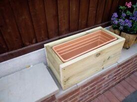 wooden planter/trough