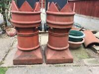 2 Crown Chimney Pots