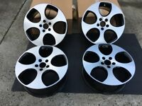 "4 X GENUINE 18"" VW GOLF GTI MONZA ALLOY WHEELS EXCELLENT CONDITION MK5 ALLOYS"