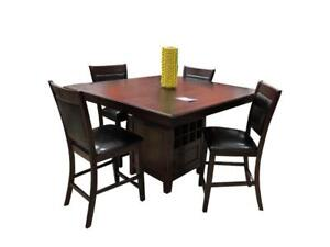 Wooden Pub Height Kitchen Set  with Wine Rack on Sale in Toronto (BD-1745)