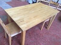 Beechwood Dining Table & 2 Chairs