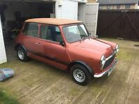 Mini 1979 classic been restored and mot