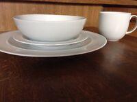 Denby white porcelain 24 piece set