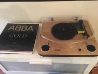 ION Max LP turntable (light brown)